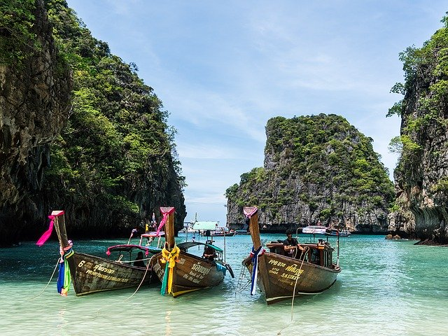Thailand Beach and boats